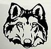 Виниловая наклейка на авто - Волк 4