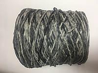 Велюр  хлопок 70 % нейлон 30% цвет серый меланж. Размер 190 метров в 100 граммах.