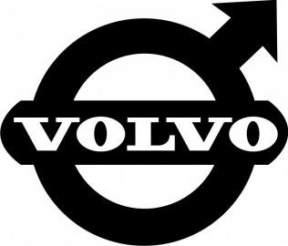 наклейки на авто с логотипом вольво
