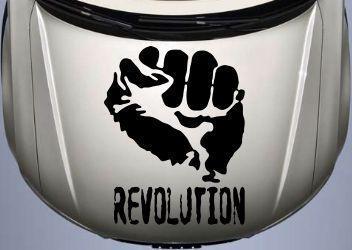 Вінілова наклейка на авто - на капот(revolution)