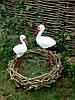 Садовые фигурки Пара аистов в гнезде