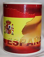 Чашка чайная футбольная с изображением символики Испанской Премьер Лиги