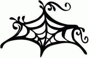 Вінілова наклейка - Павутина (візерунок)