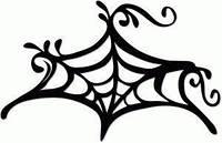 Виниловая наклейка - Паутина (узор)
