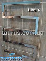 Дизайнерский водяной полотенцесушитель Ultra 4 / 700 х 600 мм. Форма зигзаг из квадратной трубы 30х30 TAURUS