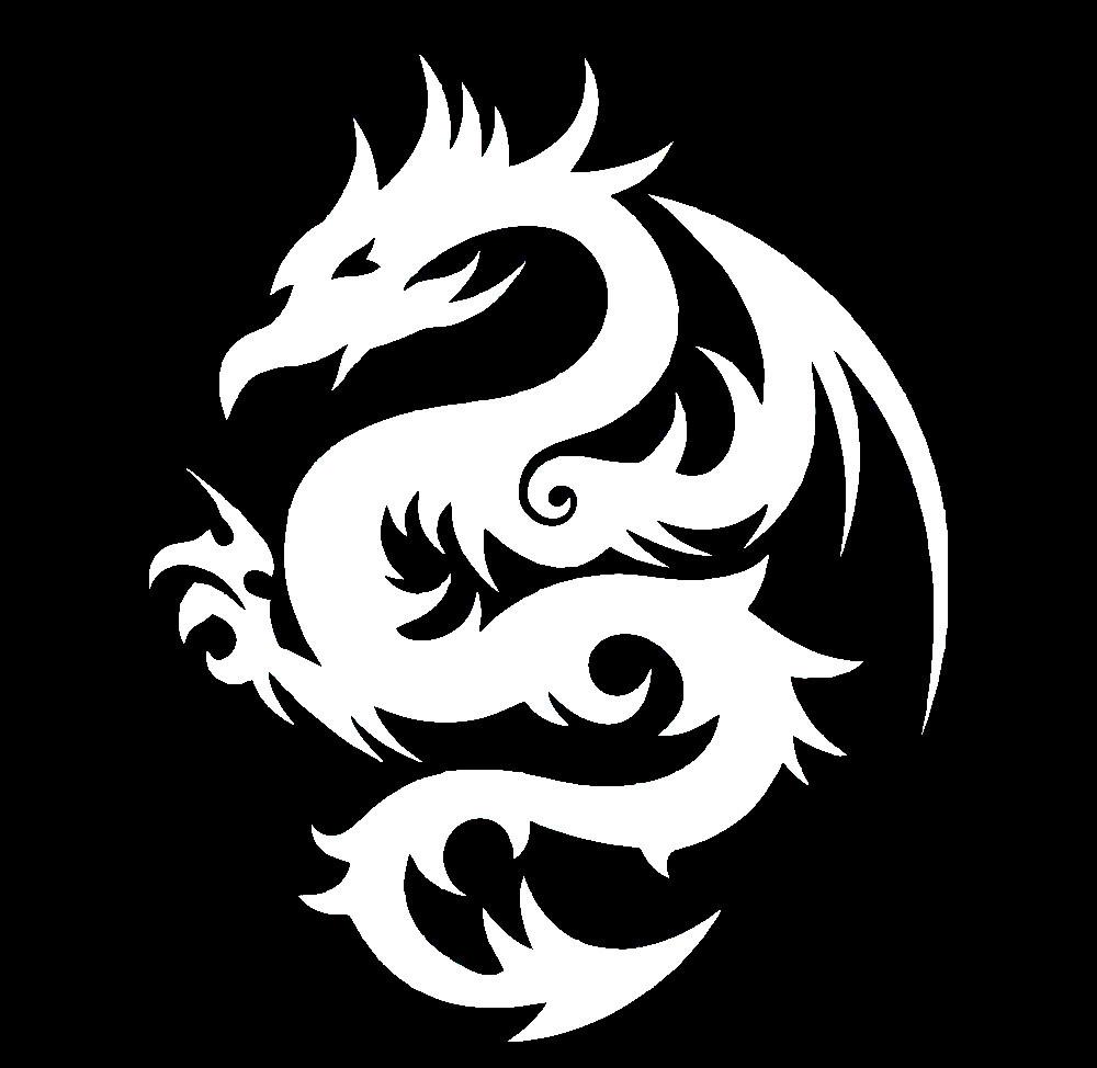 Вінілова наклейка - Дракон (1) (від 15х15 см)
