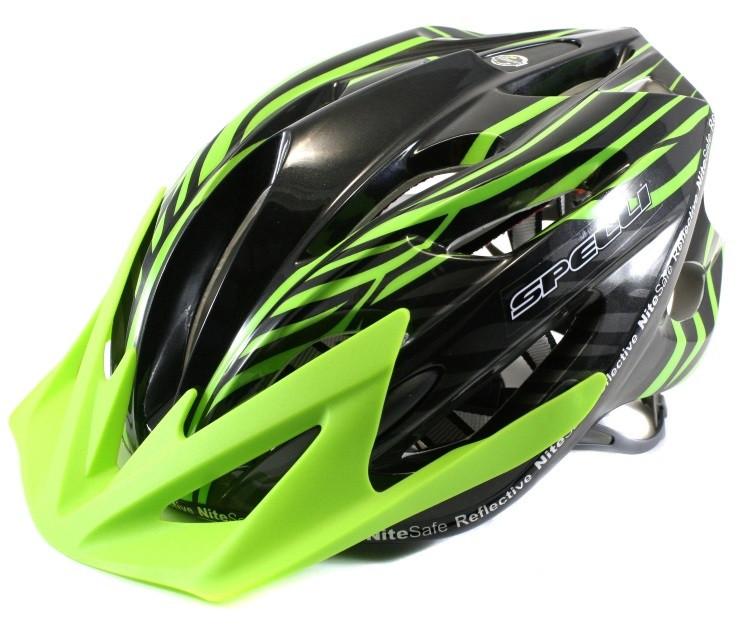 Велосипедный шлем SPELLI SBH-5900 черно-зеленый