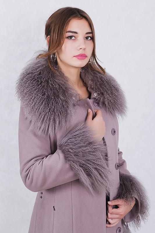 1bc68ed1a45 Пальто кашемировое зимнее женское мех ламы - DRESSCOAT в Бердичеве