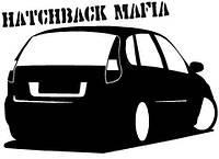 Виниловая наклейка на авто - hatchback mafia