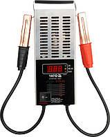 Цифровой тестер аккумуляторов Yato 12V