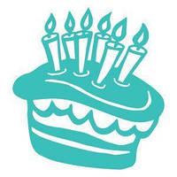 Виниловая наклейка - тортик со свечками