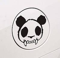 Виниловая наклейка - Панда с клыками