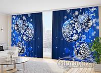 """Фото Шторы в зал """"Новогодний блеск"""" 2,7м*3,5м (2 половинки по 1,75м), тесьма"""