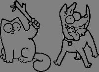 Виниловая интерьерная наклейка - Плохой кот (от 14х20 см)