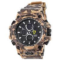 Электронные часы Casio G-Shock Ferrari Grade Militari-Brown, спортивные часы Джи Шок феррари военные