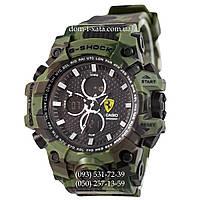 Электронные часы Casio G-Shock Ferrari Grade Militari-Green, спортивные часы Джи Шок феррари военные, камуфляж