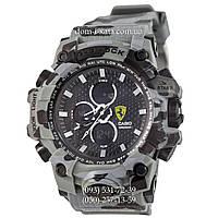Электронные часы Casio G-Shock Ferrari Grade Militari-Gray, спортивные часы Джи Шок феррари военные, камуфляж