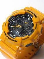 Мужские часы Casio G-Shock GA 100 Yellow