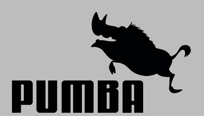 Вінілова наклейка на авто - Pumba (від 9х15 см)