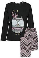 Уютная женская пижама Muzzy Сова с орнаментом S