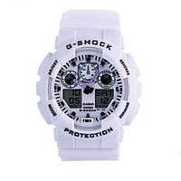 Мужские часы Casio G-Shock GA 100 White(реплика)