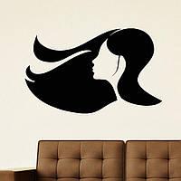 Виниловая наклейка-волосы (от 25х25 см)
