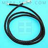Шёлковый шнурок чёрный (2,5 мм) серебряный замок