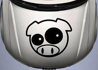 Виниловая наклейка на авто - на капот(свинка)