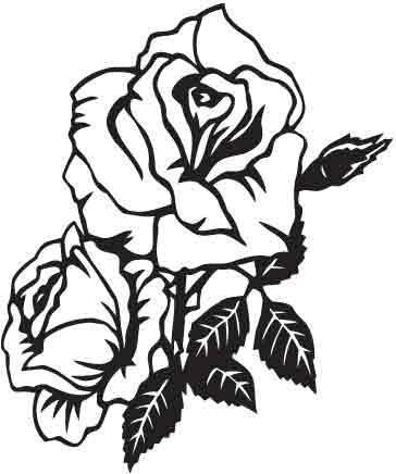 Виниловая наклейка- Роза 00