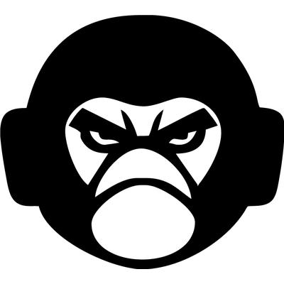 Вінілова наклейка - Мавпа в навушниках (від 15х15 см)