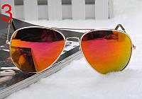 Легендарные солнцезащитные очки Aviator с рыжими линзами в золотой оправе