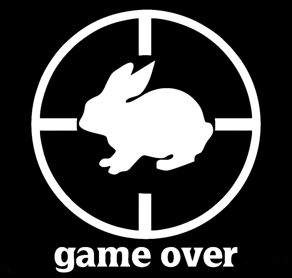Вінілова наклейка на авто - game over