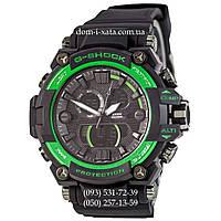 Электронные часы Casio G-Shock GWA-1045 Black-Green, спортивные часы Джи Шок черный-зеленый