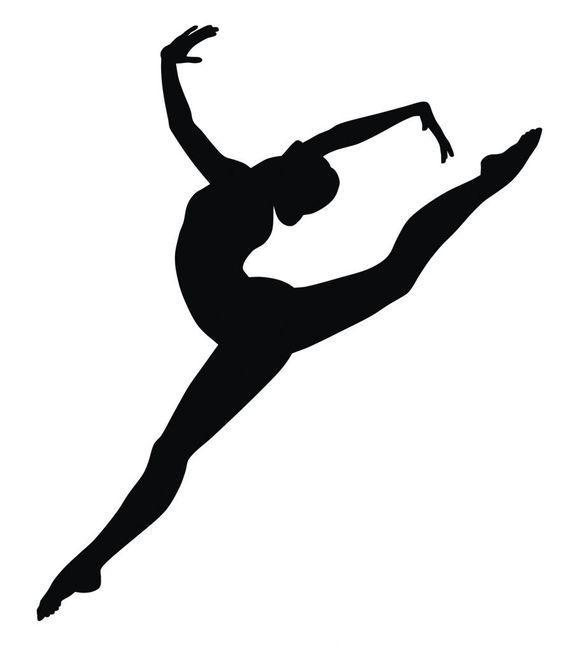 Вінілова інтер'єрна наклейка - Дівчина танцює