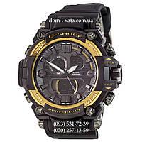 Электронные часы Casio G-Shock GWA-1045 Black-Gold, спортивные часы Джи Шок черный-золото