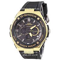 Электронные часы Casio G-Shock GST-210 Black-Gold, спортивные часы Джи Шок черный-золото