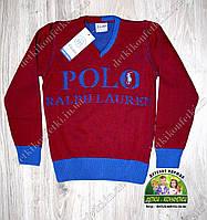 Пуловер свитер Polo с V-образным вырезом