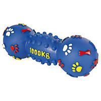 """TRIXIE (Трикси) Гантель шипованная виниловая """"лапки"""" с пищалкой 25см - игрушка для собак"""