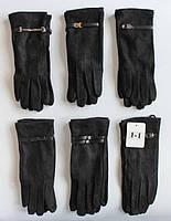Замшевые женские перчатки на флисовой подкладке