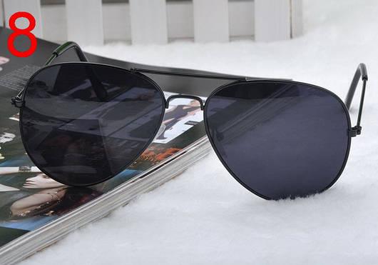 Легендарные солнцезащитные очки Aviator с черными линзами в черной оправе