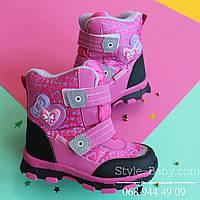 Розовые зимние термо сапоги для девочек ТМ Том.М р. 27,29,30,31,32