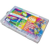 Резинки для плетения браслетов rainbow loom bands 4200 со станком в пластиковом кейсе