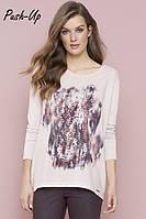 Классическая трикотажная блузка розового цвета Zaps Abella