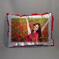 Подушка атласная с фото