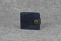Классическое мужское портмоне (6 карт) |10408| Синий