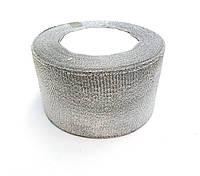 Лента парча серебро 5см шир., 25ярдов в рулоне