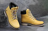 Мужские зимние ботинки Timberland (Тимберленд) код 3283 рыжие