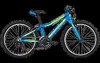 "Велосипед Bergamont Vitox 24 Light 2017 24"" (2066) 31см cyan/neon yellow (matt)"