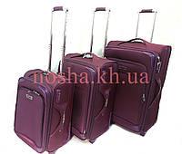 Дорожные чемоданы 3в1 Tree Birds Комплект Фиолетовый
