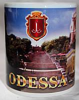 Чашка чайная футбольная с изображением видов Одессы